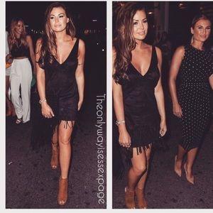 NWT Zara Trafaluc Suede like fringe Dress